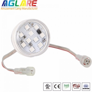Dc24v programmable 45mm 10 smd 5050 rgb fun led am...