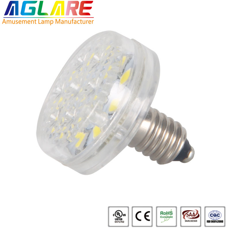 Single color 24V/60V/120V 14 LEDs E10 amusement led lamp
