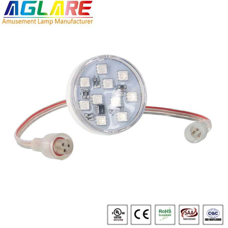 DC 12v or 24v diameter 45mm amusement rides led lamps
