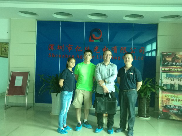 warmly welcome our Brazil customer come to visit our factory